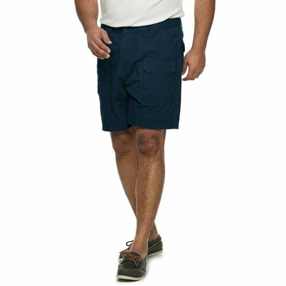 b093d270a7 croft & barrow Shorts | Croft Barrow Side Elastic Cargo 50 Blue ...